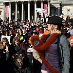 'London - A City and its People' - Climate Change Demo Trafalgar Square 6th November 2006 - A photographic study by Christopher John Ball - Photographer and Writer