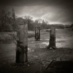 Holga 'River at Low Tide' Triptych by Christopher John Ball - Photographer & Writer