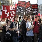 Student Demonstration against Fees at Trafalgar Square 6th October 2006 - London - A City and its People A photographic study by Christopher John Ball - Photographer and Writer
